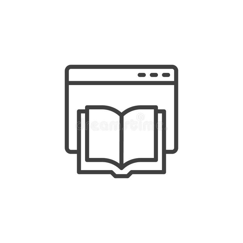 E-learningpictogram voor webpagina-lijnen stock illustratie