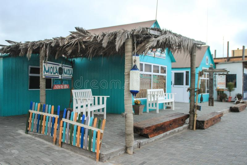 E Leeg restaurant op de pijler stock foto