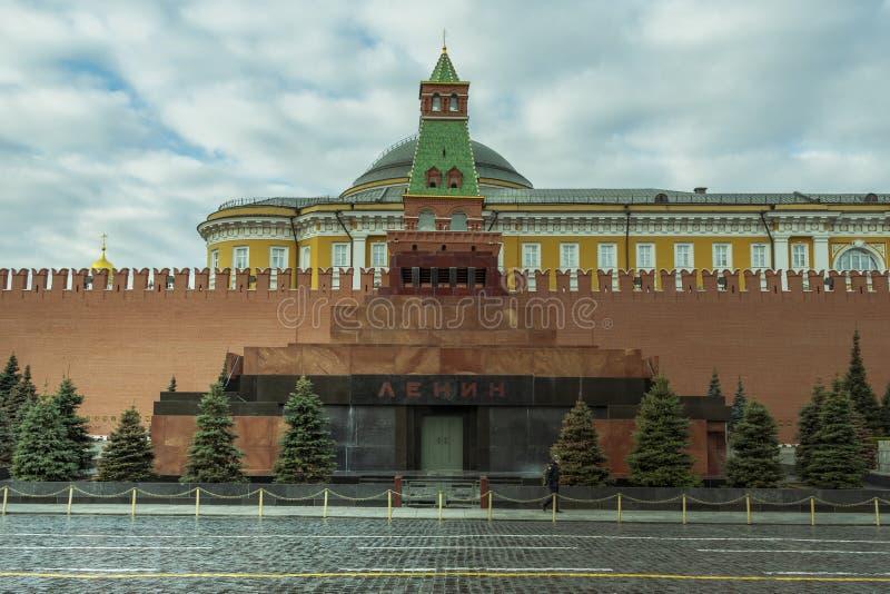 E 2019: Lenin mauzoleum na placu czerwonym w Moskwa obraz royalty free