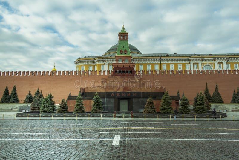E 2019: Lenin mauzoleum na placu czerwonym w Moskwa zdjęcie stock