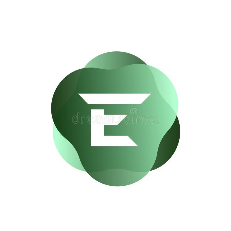 E Letter Logo royalty free illustration