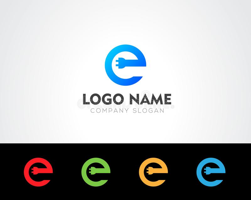 E Letter Logo Template online store vectors illustration. This is very easy to use. U ca Use as your won simply royalty free illustration