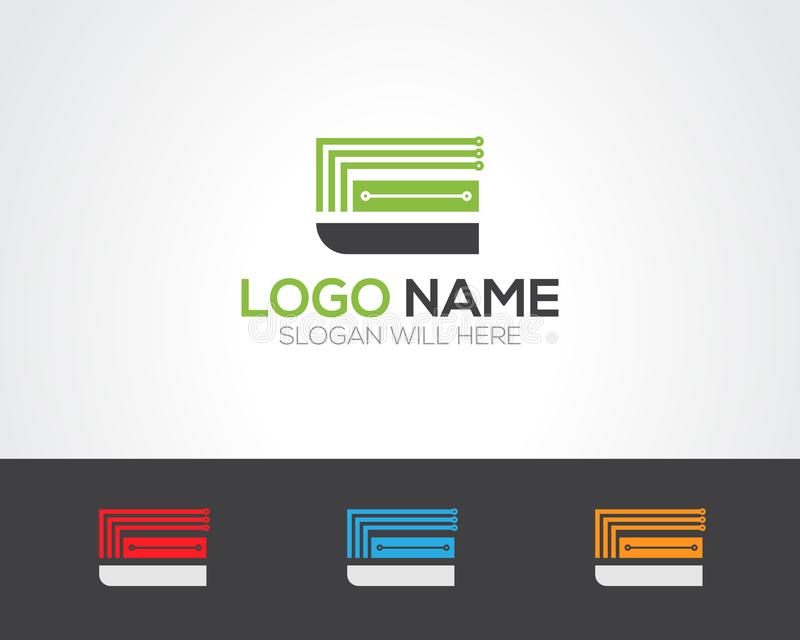 E Letter Logo Template online store vectors illustratio. N. This is very easy to use. U ca Use as your won simply stock illustration