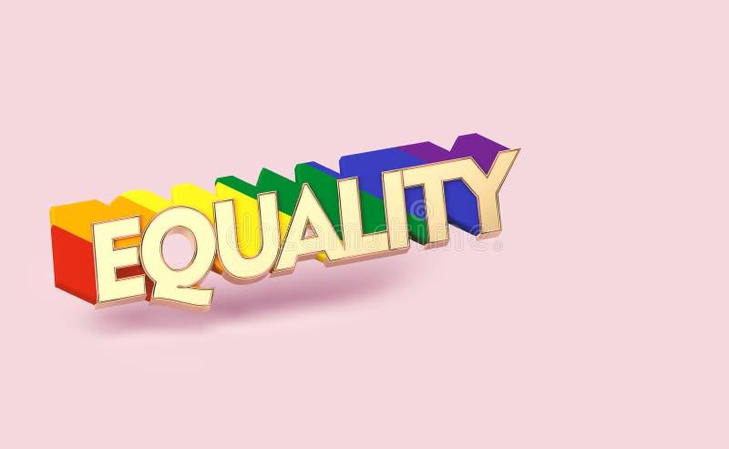 E LGBT平等标志概念 r 向量例证