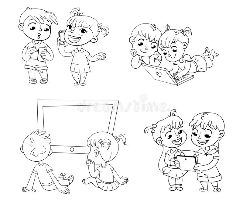 E Libro di coloritura royalty illustrazione gratis