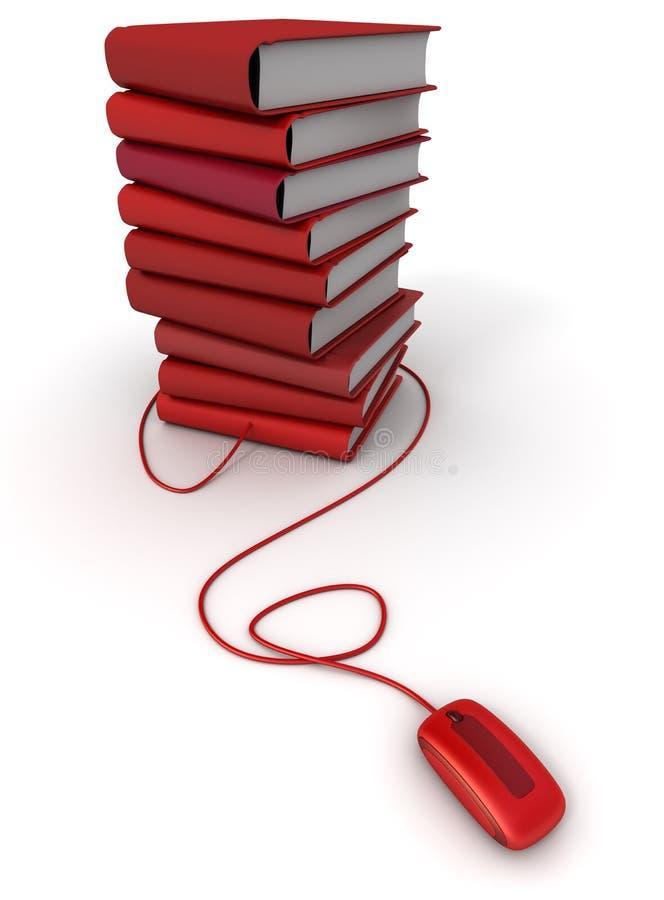 E-libros rojos libre illustration