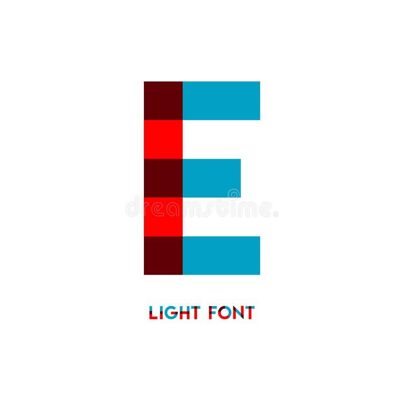 E Light Font Vector Template Design Illustration royalty free illustration