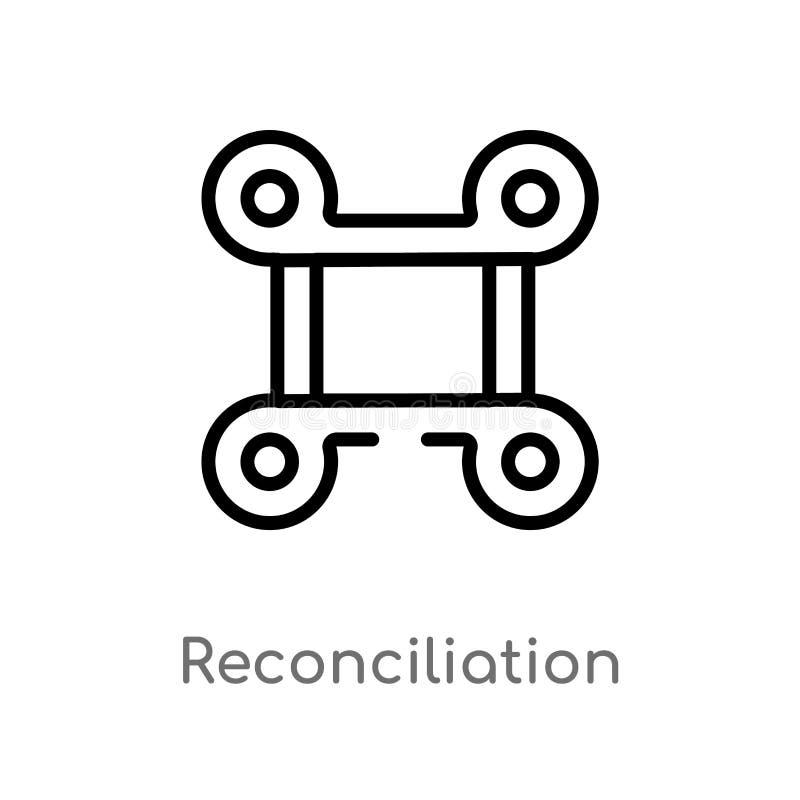 E ligne simple noire d'isolement illustration d'élément de concept de zodiaque Course Editable de vecteur illustration de vecteur