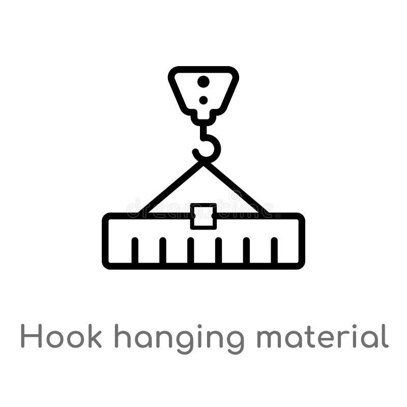 E linea semplice nera isolata illustrazione dell'elemento dal concetto delle costruzioni Vettore editabile royalty illustrazione gratis