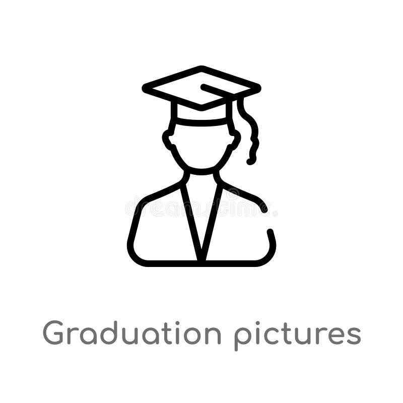 E linea semplice nera isolata illustrazione dell'elemento dal concetto di istruzione Vettore editabile royalty illustrazione gratis