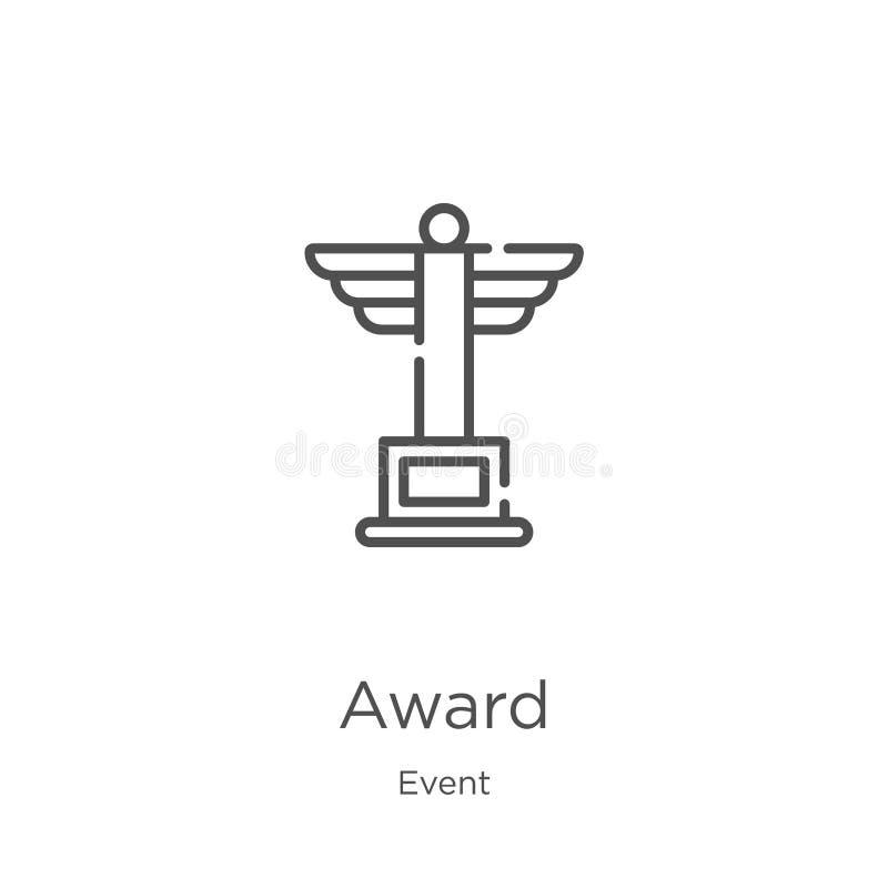 E Linea sottile illustrazione di vettore dell'icona del profilo del premio r illustrazione vettoriale