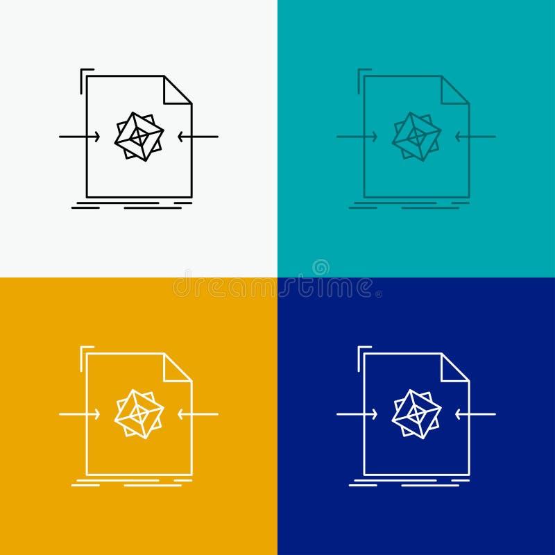 E Linha projeto do estilo, projetado para a Web e o app Vetor do EPS 10 ilustração do vetor