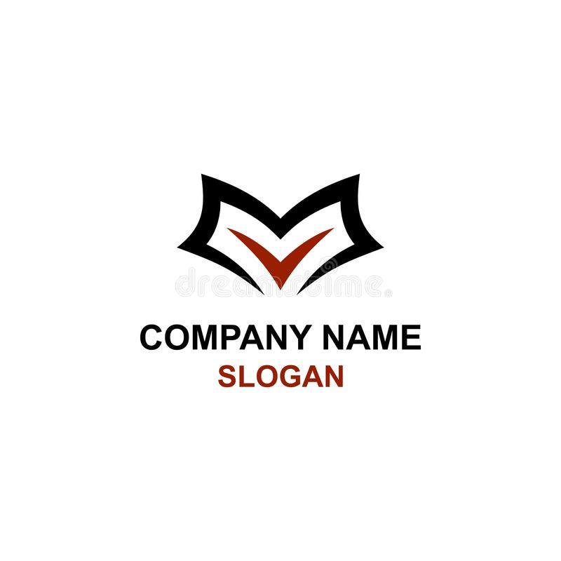 E listu inicjału logo ilustracji