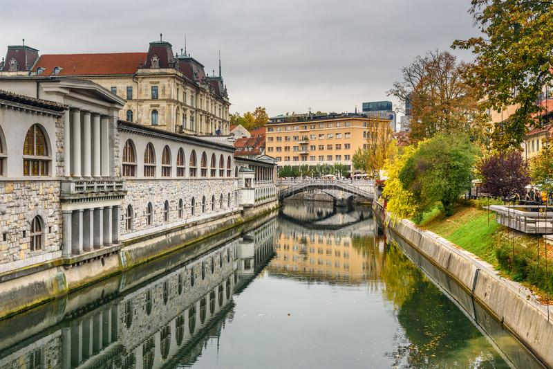E ljubljana slovenia photo libre de droits
