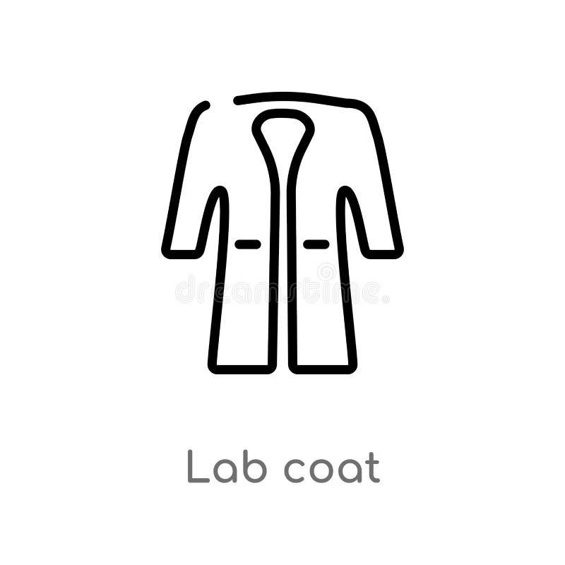 E lokalisiertes schwarzes einfaches Linienelementillustration vom Modekonzept r lizenzfreie abbildung