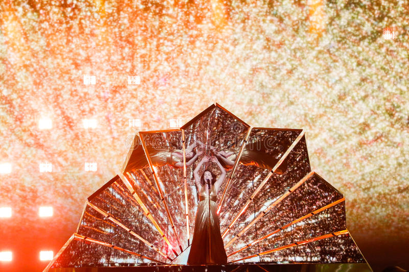 E Lucie Jones from United Kingdom Eurovision 2017 royalty free stock image