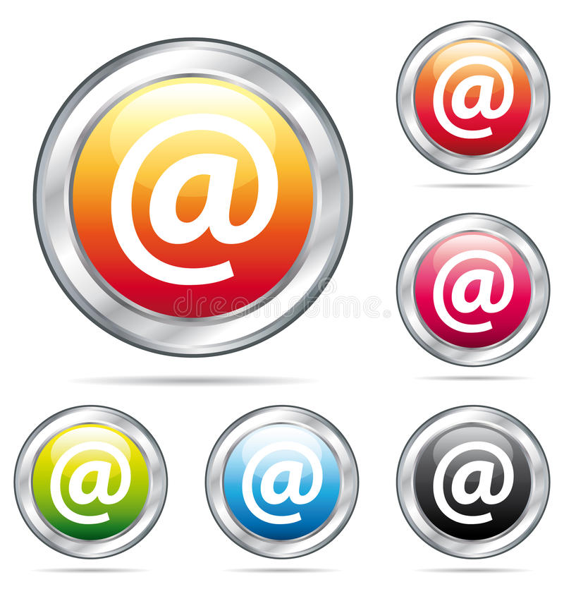 Download E-mail Address Colorful Buttons. Stock Vector - Image: 11204507