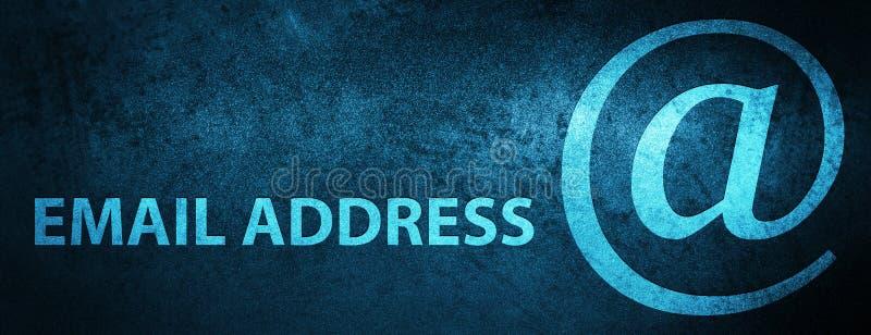 E-Mail-Adresse spezieller blauer Fahnenhintergrund lizenzfreie abbildung