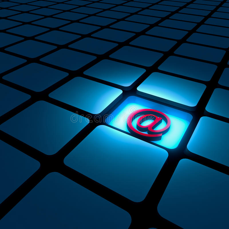 E-Mail-alias Zeichen stock abbildung
