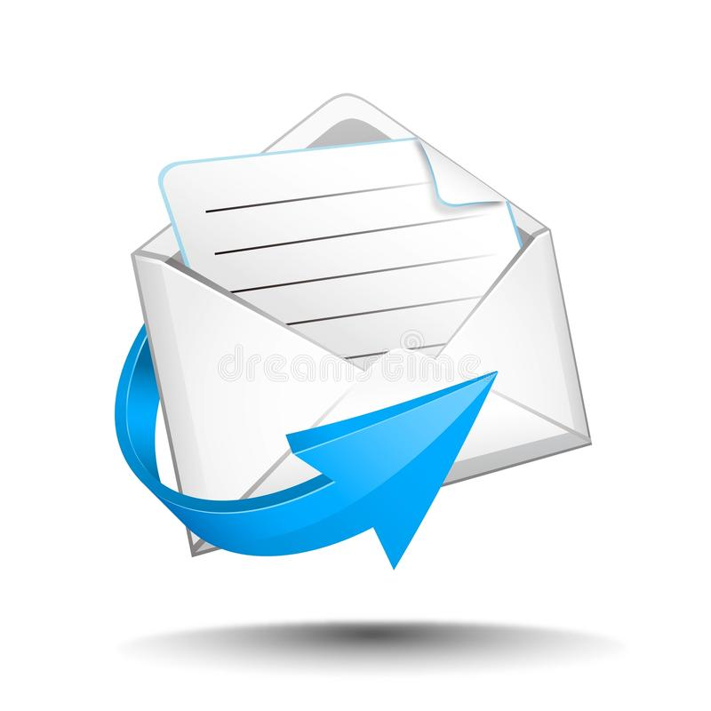 Download E-mail with arrow stock illustration. Image of information - 32374872