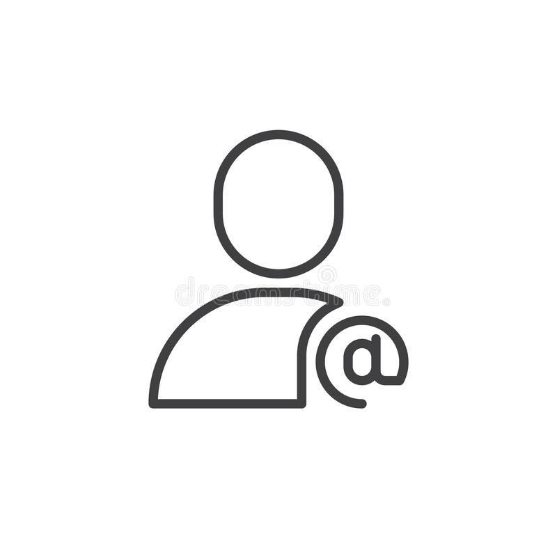 E-Mail-Benutzerlinie Ikone stock abbildung