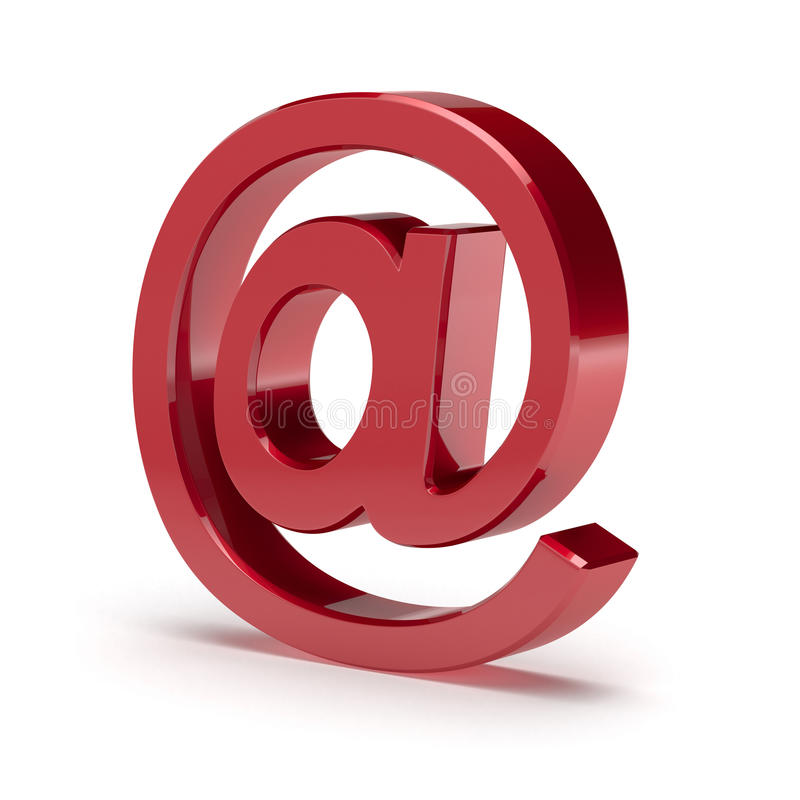 E-mail bij simbol vector illustratie