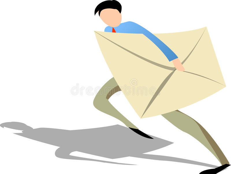 e - mail biznesmena royalty ilustracja