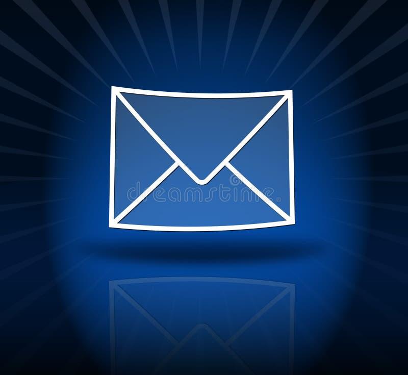 E-mail blauw stock illustratie