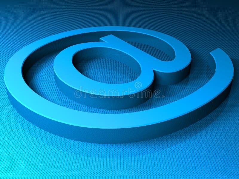 E-mail blue sighn vector illustration
