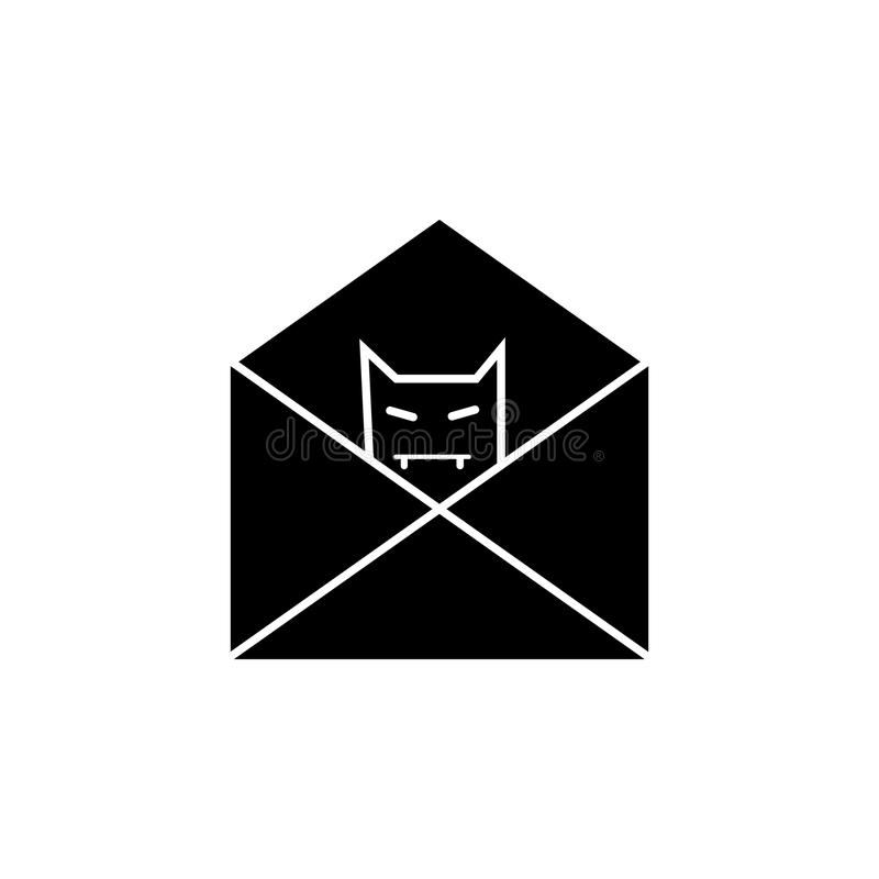 E-mail with bug spy icon. Elements of cyber security icon. Premium quality graphic design. Signs, outline symbols collection icon stock illustration