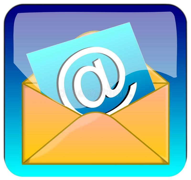 Download E-mail Button stock illustration. Image of mail, email - 23440006