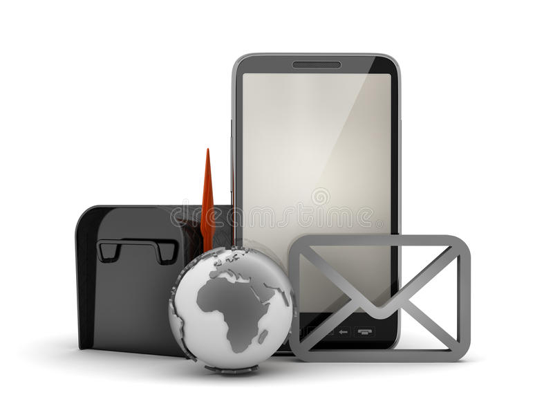Download E-mail In Cell Phone Concept Illustration Royalty Free Stock Photo - Image: 37845715