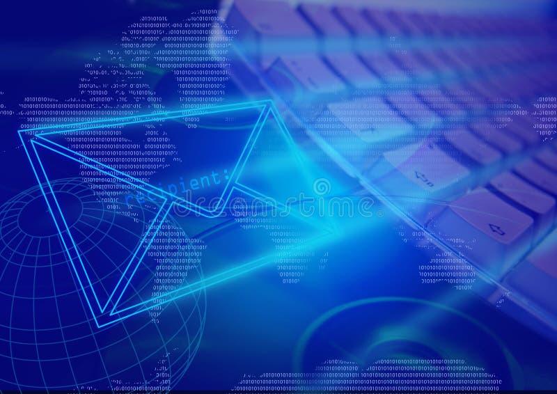 E-mail communicatie computertechnologie vector illustratie