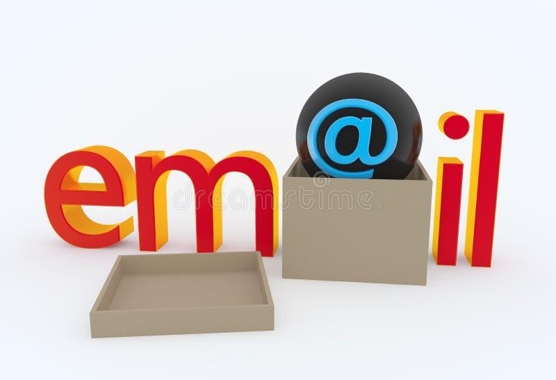E-mail concept royalty-vrije illustratie