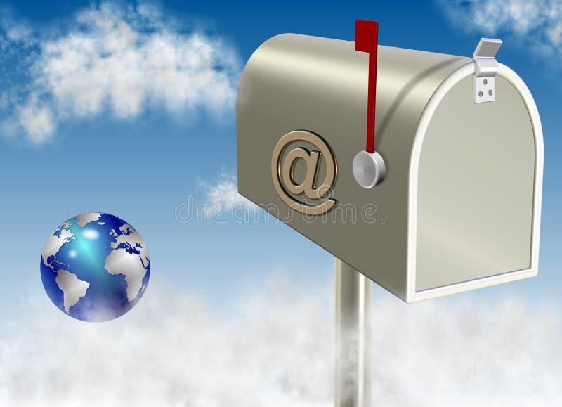 E-mail doos royalty-vrije illustratie
