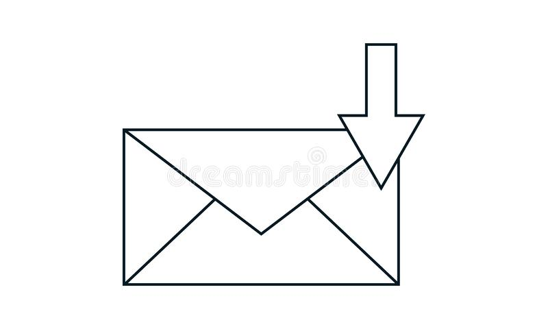 E-mail download vector icon.Simple flat symbol. Perfect  pictogram illustration on white background. E-mail download icon set vector illustration. Flat style stock illustration
