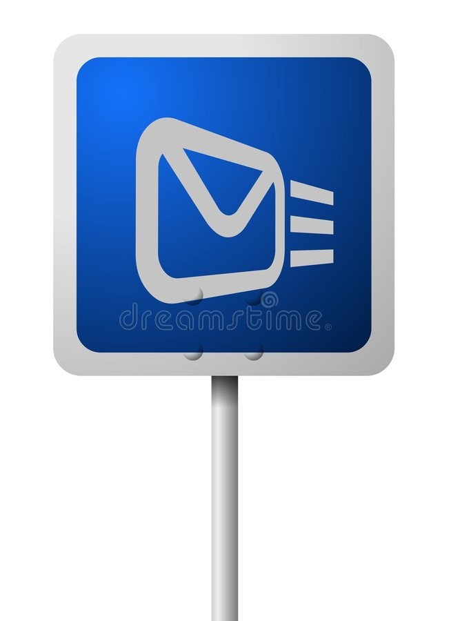 e - mail drogowskaz ilustracja wektor