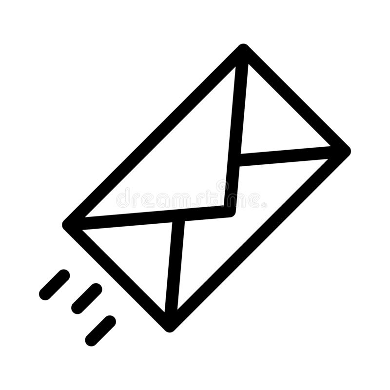E-mail dun lijn vectorpictogram royalty-vrije illustratie