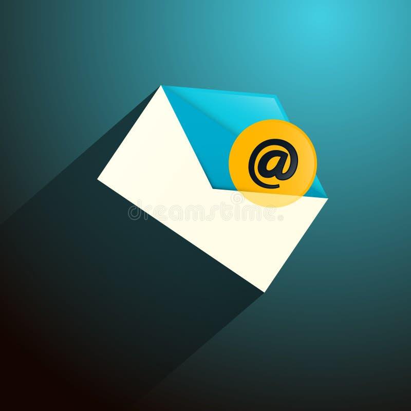 E-mail, E-mailenveloppictogram stock illustratie