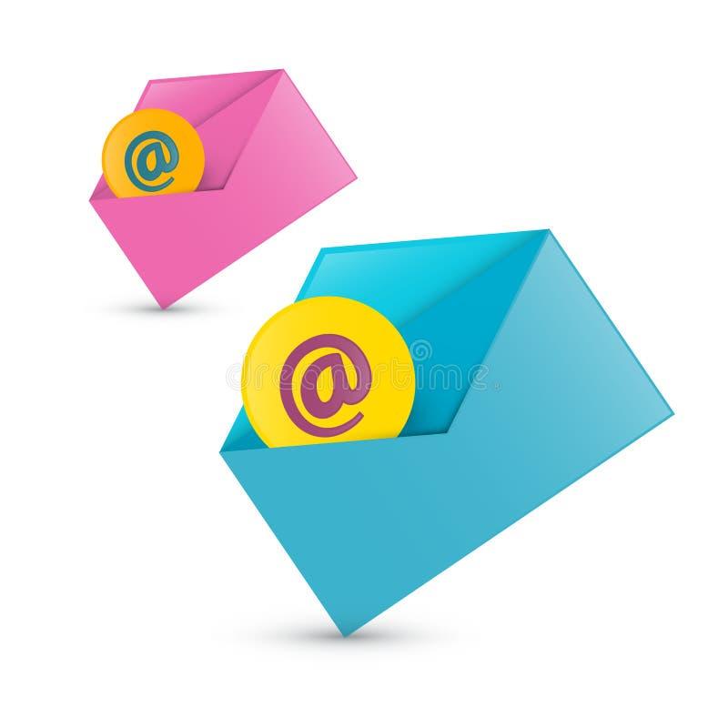 E-mail, E-mailpictogrammen vector illustratie