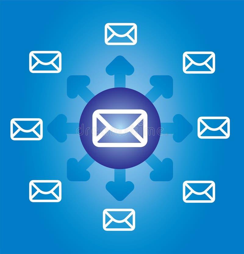 E-mail en Internet vector illustratie