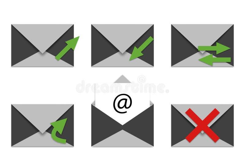 E-mail en telefoonpictogrammen stock foto