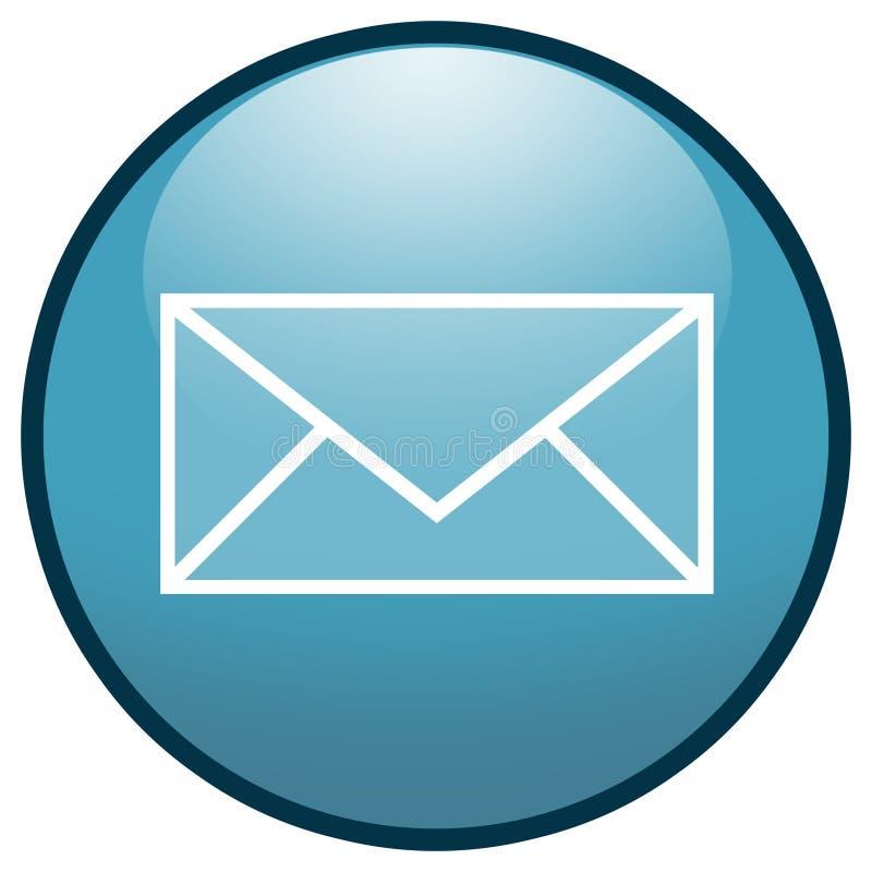 E-mail Envelope Button Icon (Blue) royalty free illustration