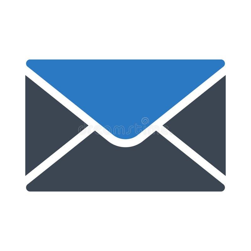 E-mail glyph kleuren vectorpictogram vector illustratie