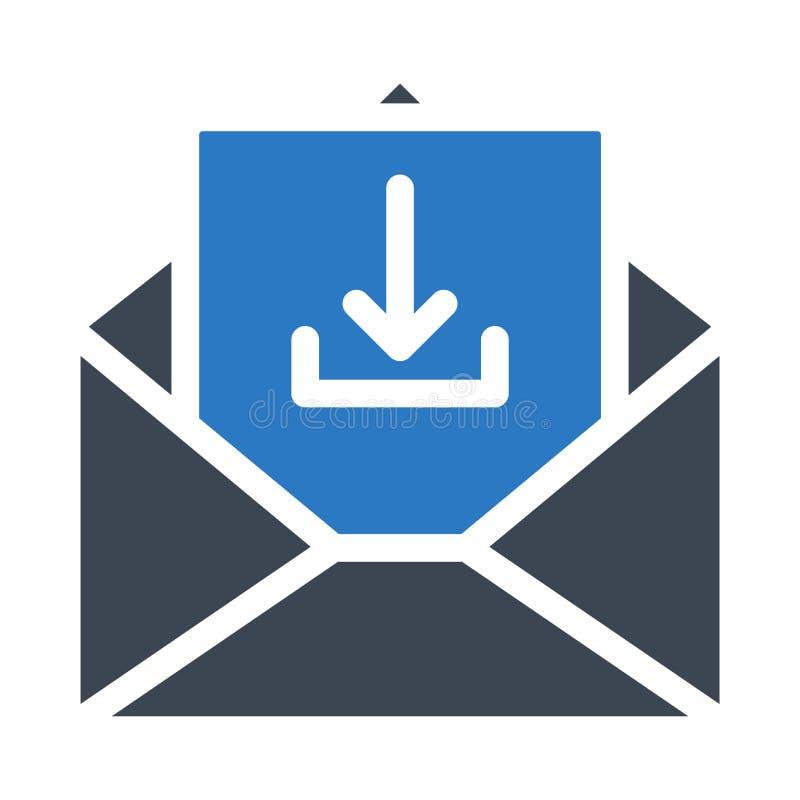 E-mail glyph kleuren vectorpictogram stock illustratie