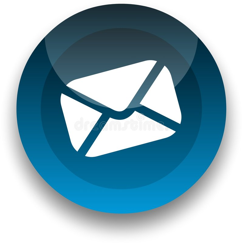 e - mail guzik ilustracja wektor