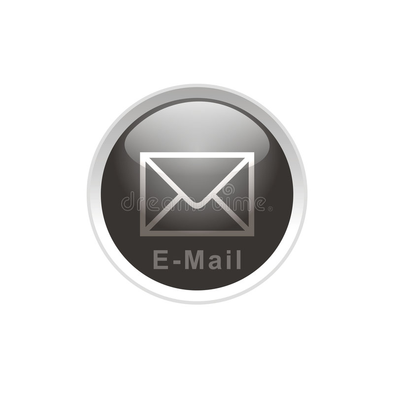 e - mail guzik royalty ilustracja
