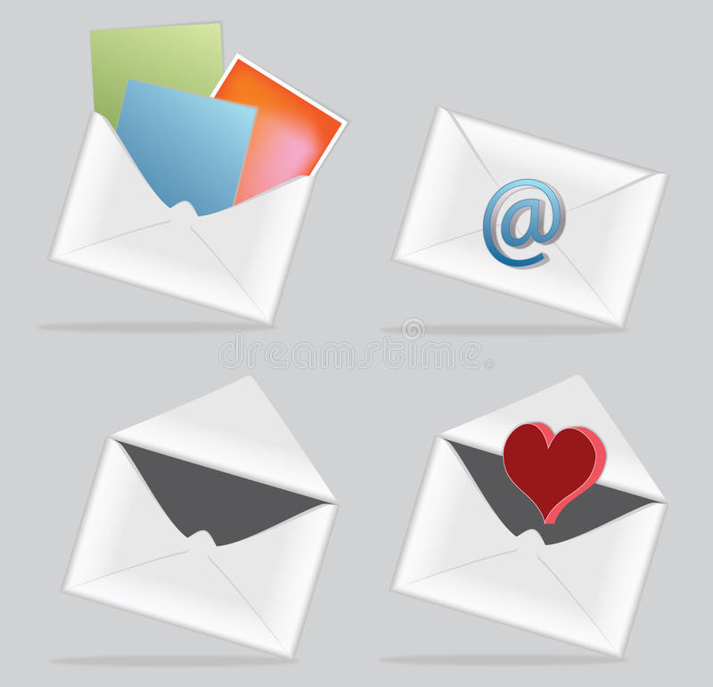 Download E-mail icon with envelope stock vector. Image of icon - 20424995