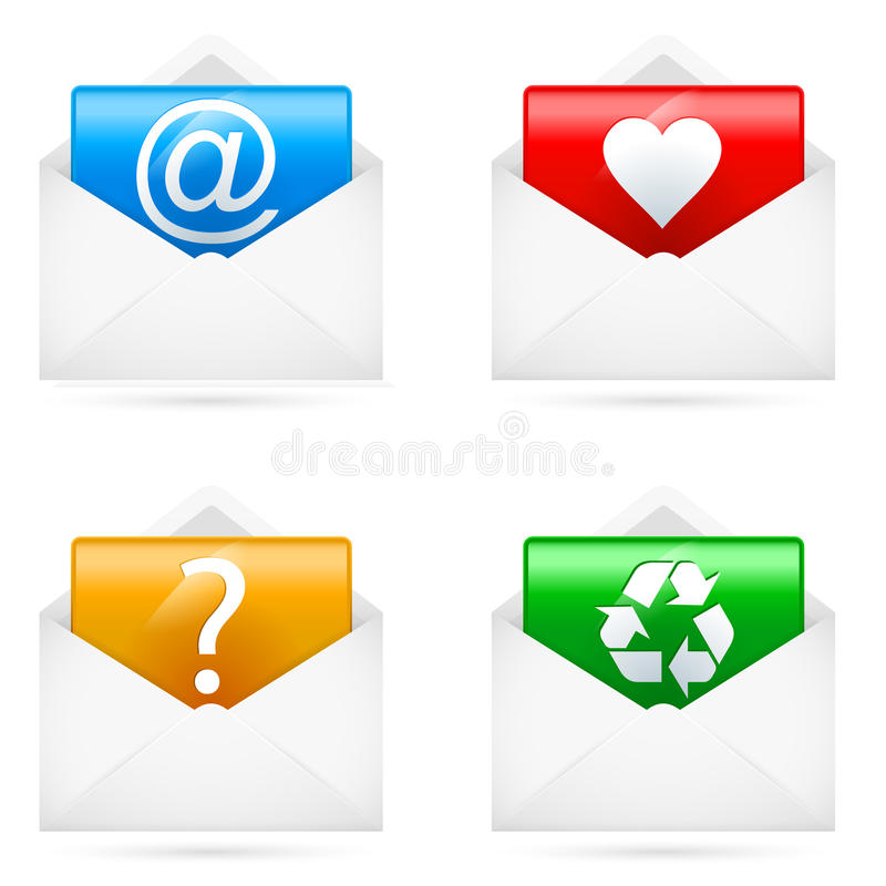 Download E-mail icons stock vector. Illustration of modern, mail - 25660262