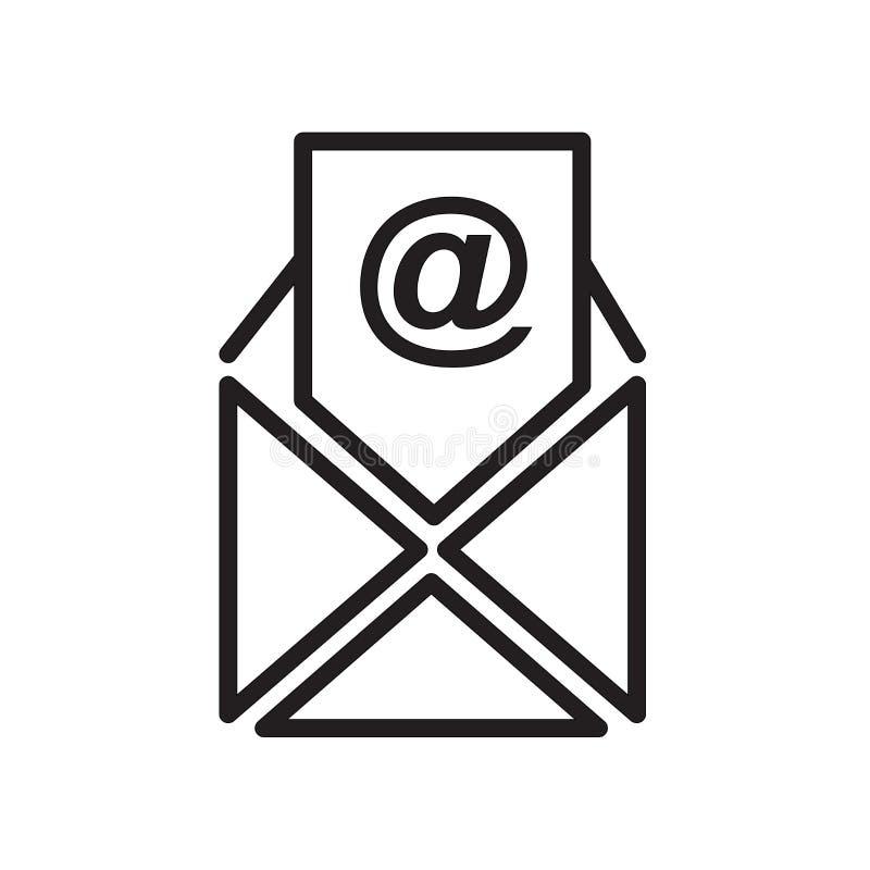 E-Mail-Ikone kein Hintergrund lokalisiert auf weißem Hintergrund stock abbildung